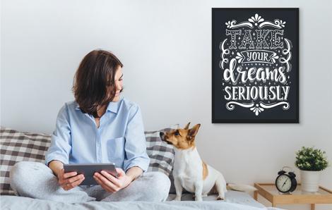 Typografisches Poster mit Motivation