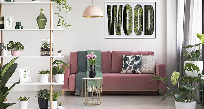 Typografisches Poster Wald