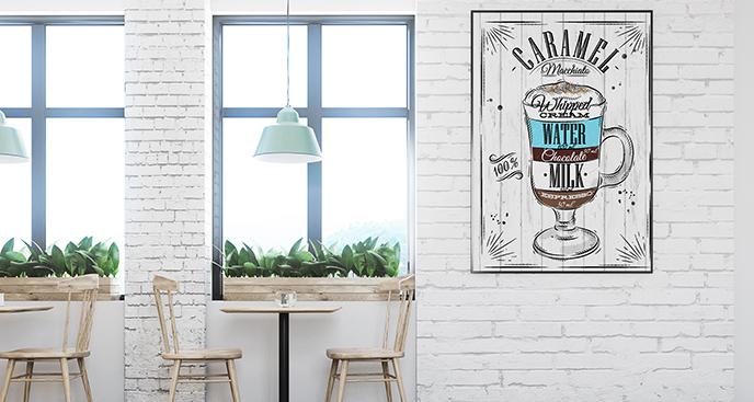 Vintage-Poster fürs Café