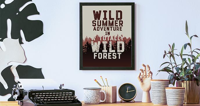 Waldplakat mit Inschrift