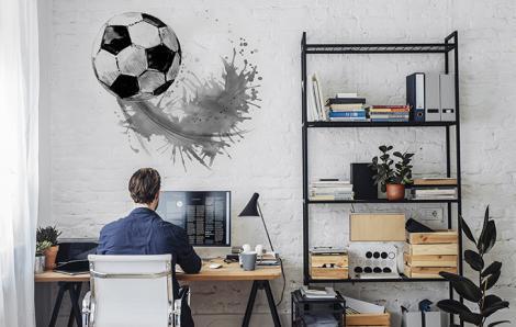Wandsticker Fußball