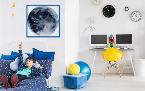 Weltraumplakat mit dem Mond