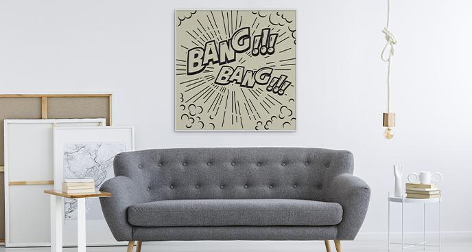 Wohnzimmer-Poster