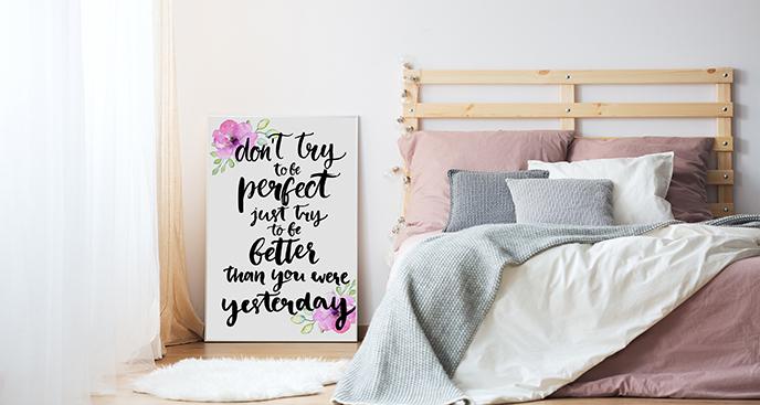 Zitat-Poster fürs Schlafzimmer