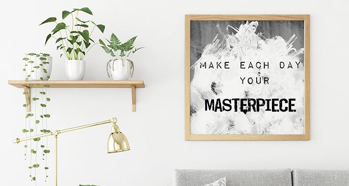 Zitat-Poster in Weiß und Schwarz